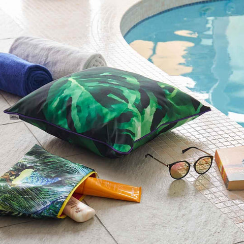Monstera Leaf Outdoor Cushion by Penelope Hope