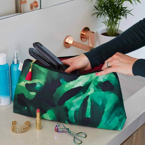 Monstera Leaf Travel Wash Bag by Penelope Hope