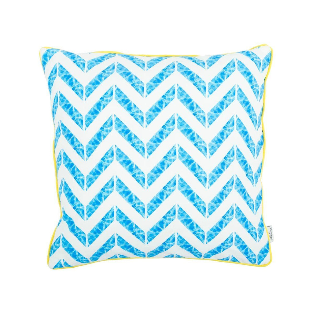 Water reflection chevron cushion by Penelope Hope