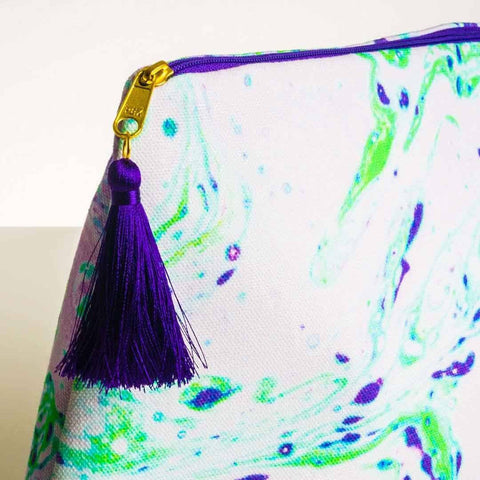 Neon Green Marble Wash Bag by Penelope Hope