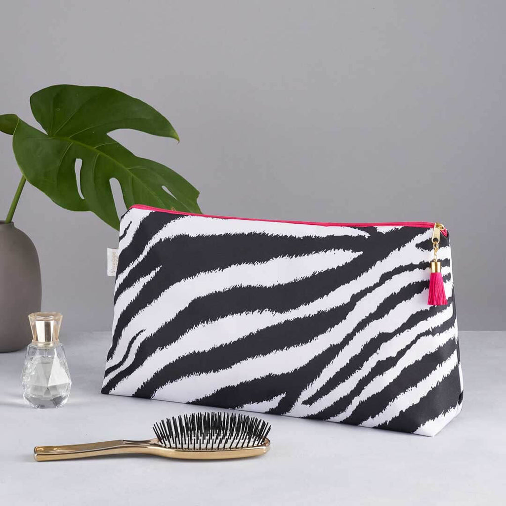 Classic Zebra Print Large Wash Bag