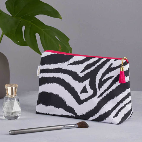 Black and White Zebra Print Wash Bag