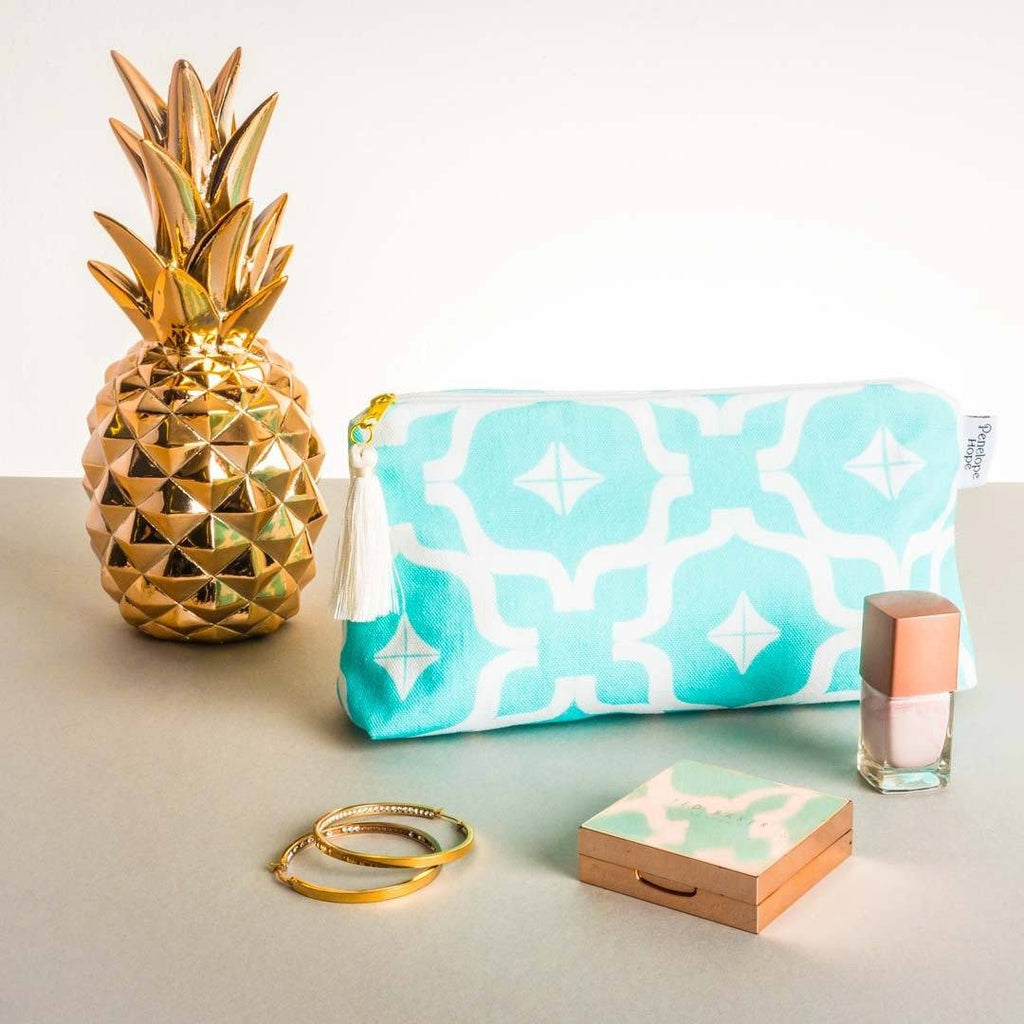 Moroccan Teal Makeup Bag by Penelope Hope