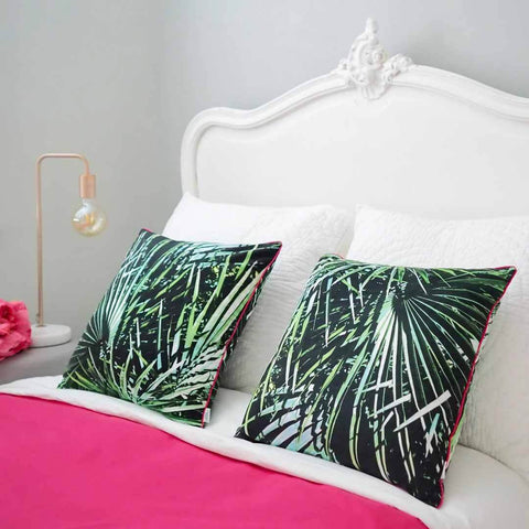 Palm Leaf Velvet Cushions by Penelope Hope