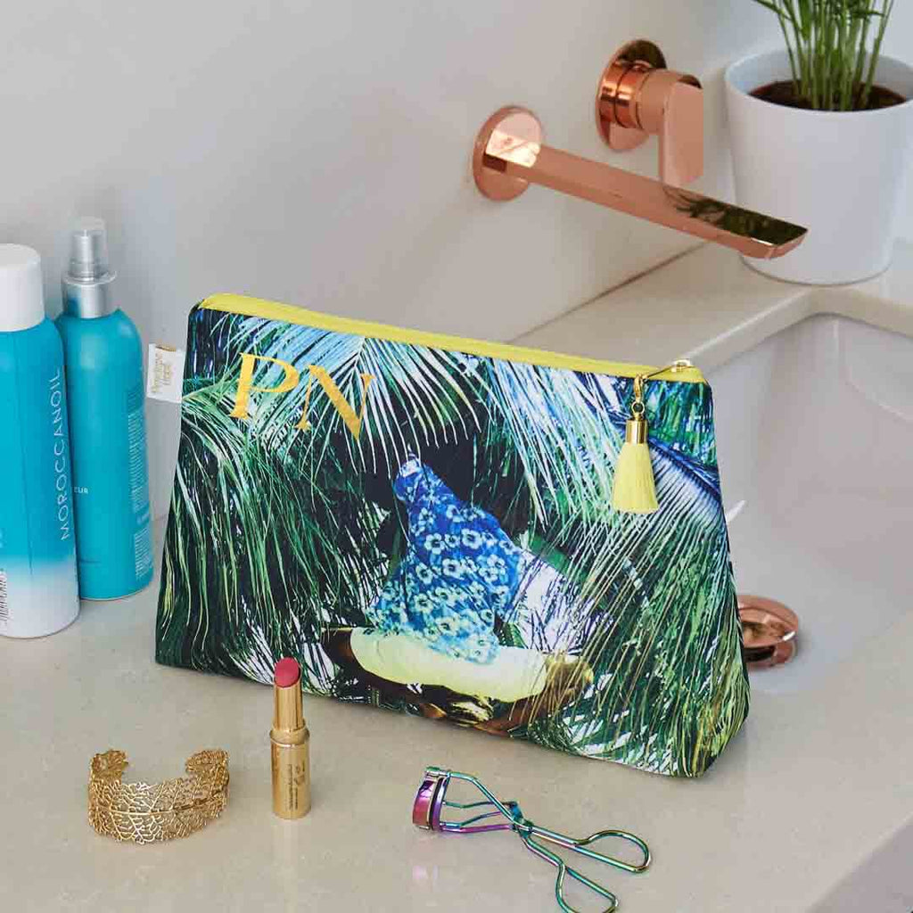 Personalised Tropical Medium Waterproof Wash Bag by Penelope Hope