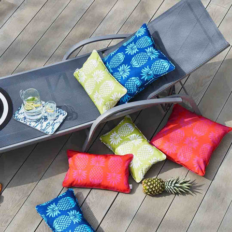 Colourful Pineapple Outdoor Cushions by Penelope Hope