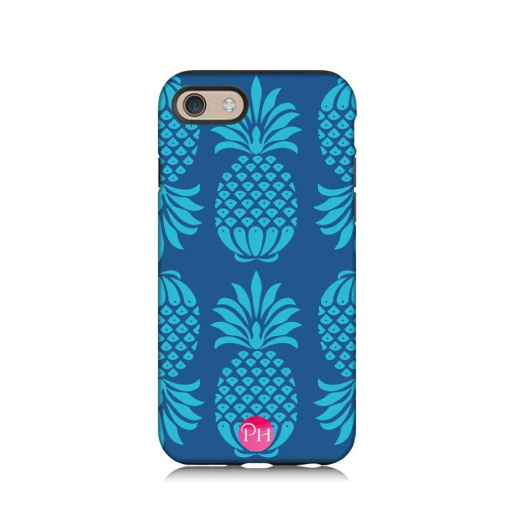 Pineapple Blue Mix Phone Case by Penelope Hope