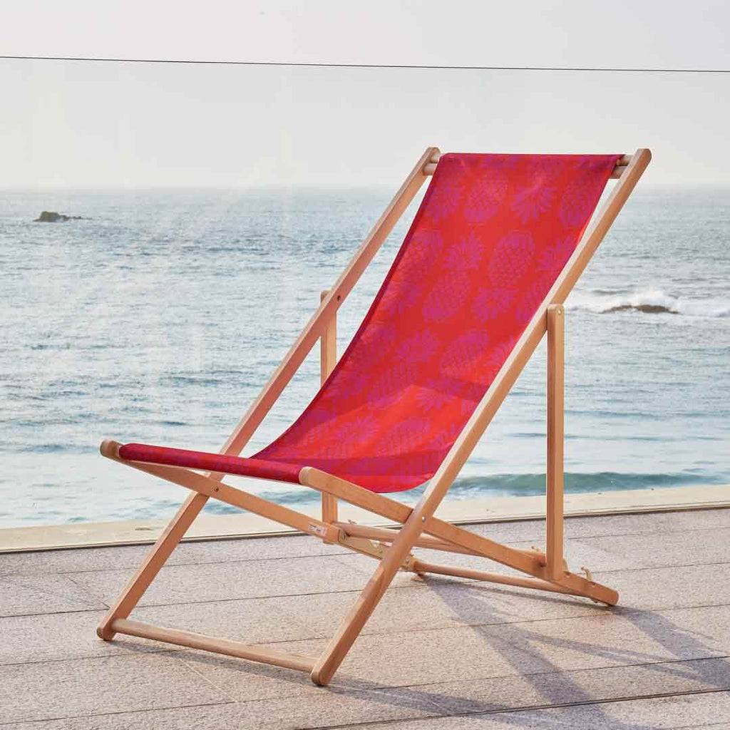 Red Pineapple Deckchair by Penelope Hope
