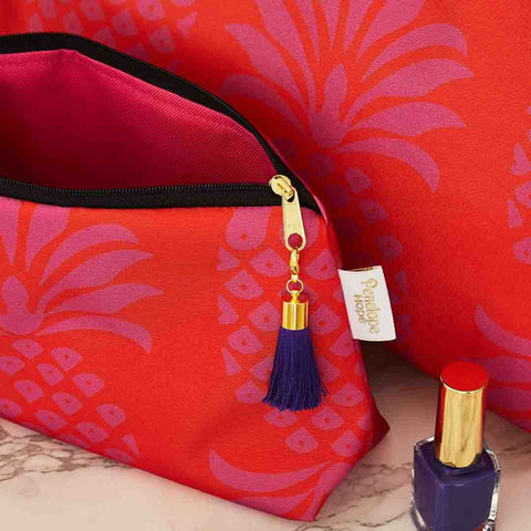 Colourful Pineapple Makeup Bag by Penelope Hope