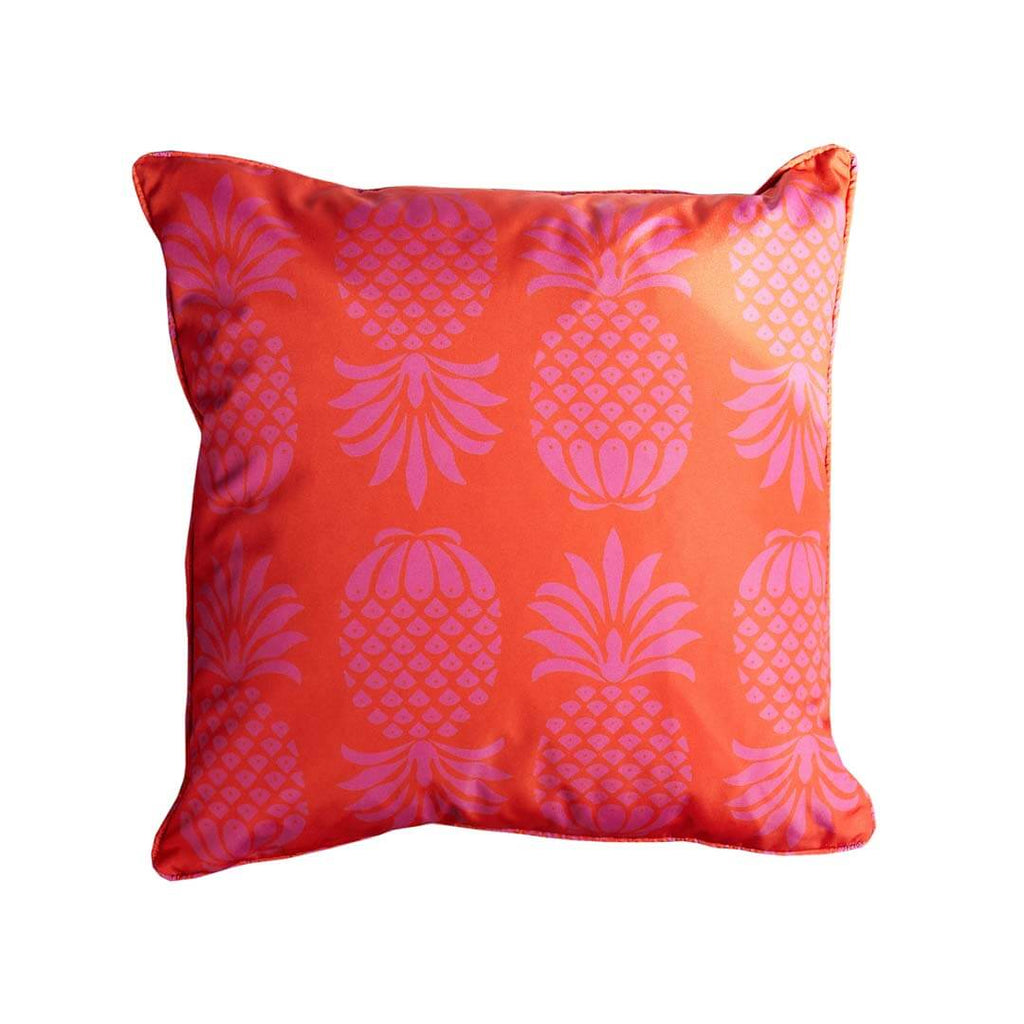 Red Pineapple Waterproof Cushion by Penelope Hope
