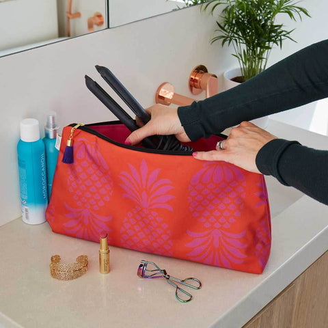 Colourful Pineapple Travel Wash Bag by Penelope Hope