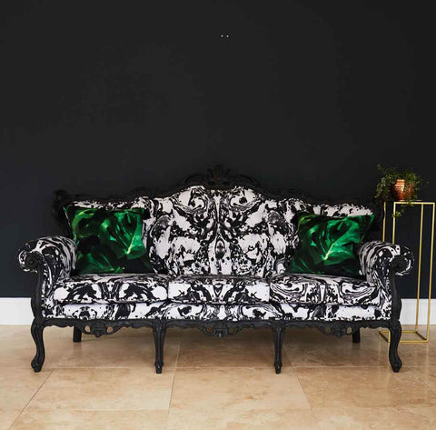Rococo Style French Louis XV sofa in Mono Marble