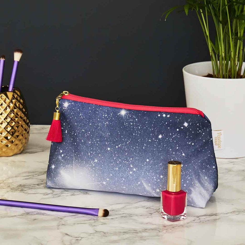 Cosmic Sky Makeup Bag by Penelope Hope