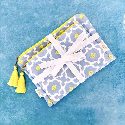 Taha'a Blue Mix Pouch Set