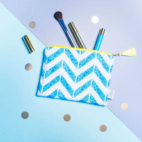 Chevron Pouch in Blue by Penelope Hope