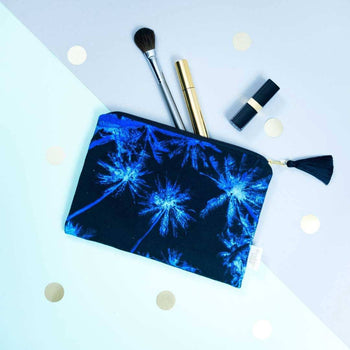Palm Tree Midnight Pouch by Penelope Hope