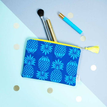Pineapple Blue Mix Pouch by Penelope Hope