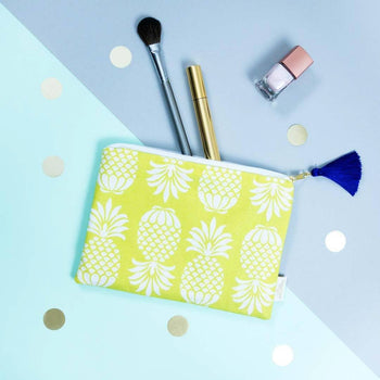 Pineapple Charteuse Pouch by Penelope Hope