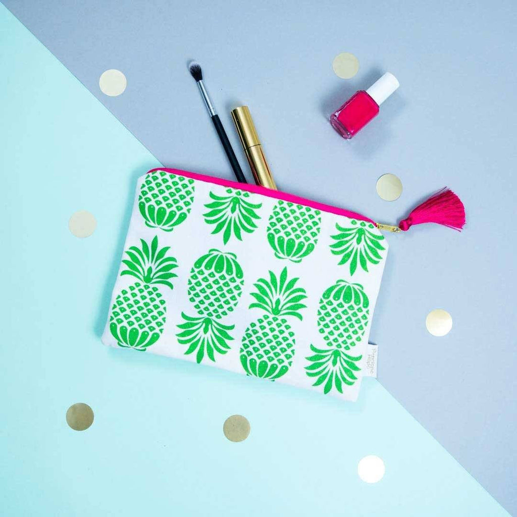Pineapple Green Pouch by Penelope Hope