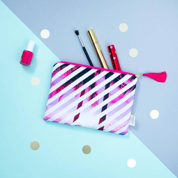 Pink Palms pouch by Penelope Hope