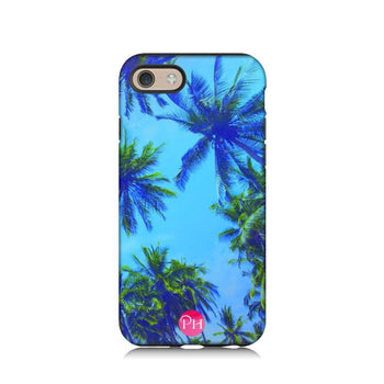 Palm Tree Blue Phone Case by Penelope Hope