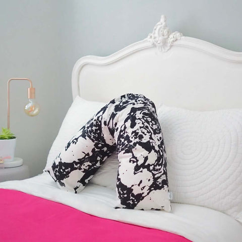 V-shaped Pillow in Mono Marble Design by Penelope Hope