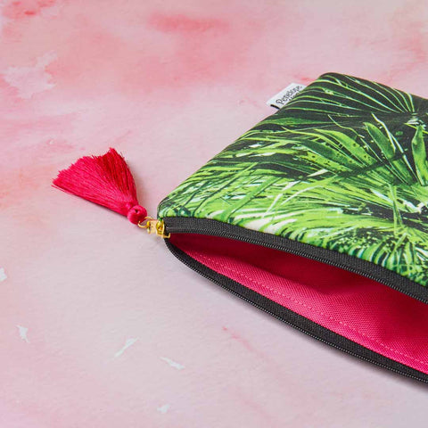 Fab Auntie Velvet Clutch Bag or Cosmetic Pouch