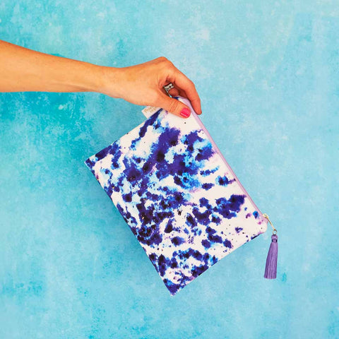 Mesmerise velvet pouch or clutch bag by Penelope Hope