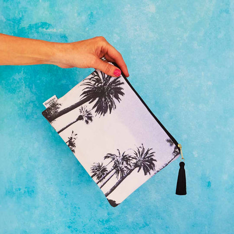 Sunset Boulevard Bluewash Pouch
