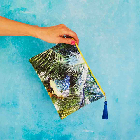 Picking Coconuts Velvet Pouch | Penelope Hope