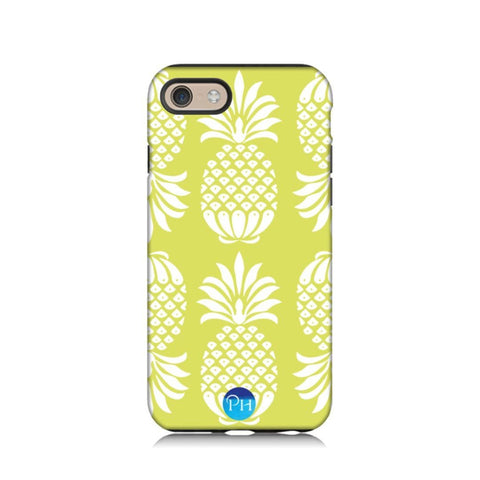 Pineapple Chartreuse Phone Case by Penelope Hope