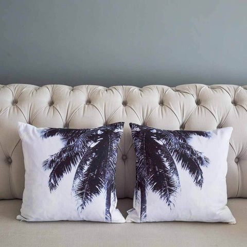 Palm Dreams Cotton Cushion pair | Penelope Hope