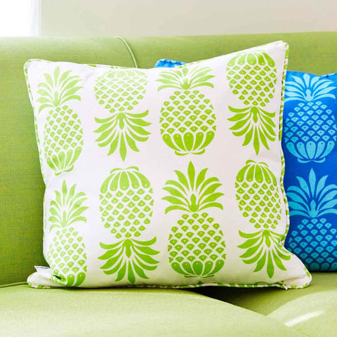 Pineapple Green Cushion | Penelope Hope