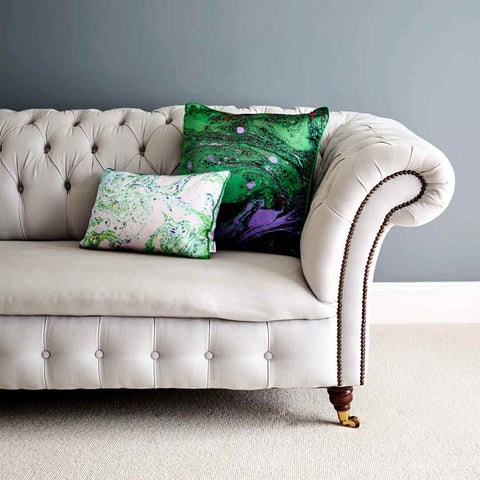 Malachite Marble | Silk Cushion