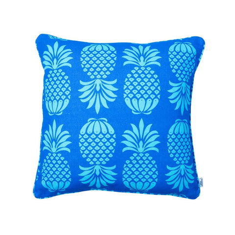 Blue Pineapple Cushion by Penelope Hope