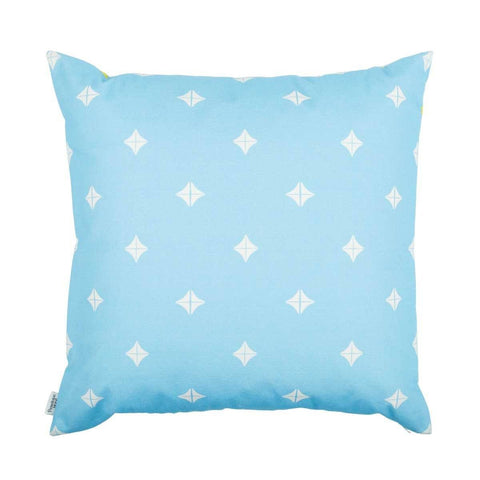 back of Taha'a Moroccan Blue Cushion | Penelope Hope