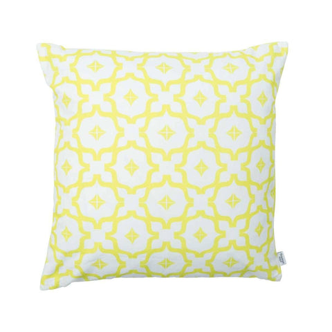 Taha'a Moroccan Chartreuse Yellow Cushion | Penelope Hope