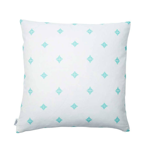back of Taha'a Moroccan Teal Cushion | Penelope Hope