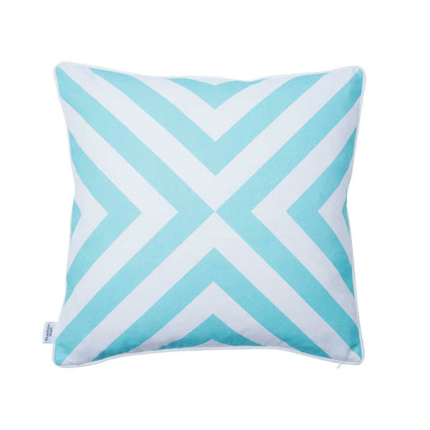 Back of Wanderlust Azure Cushion | Penelope Hope