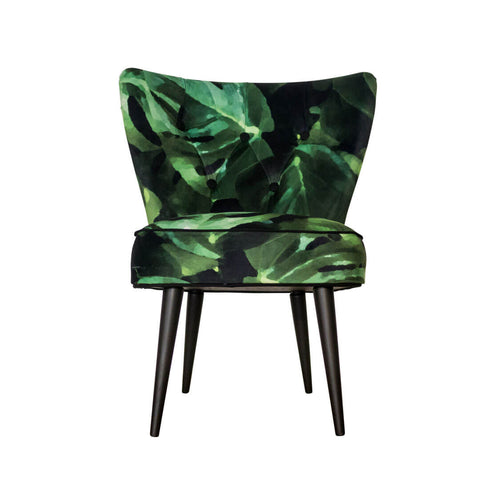 Cocktail Chair in Monstera Leaf Velvet
