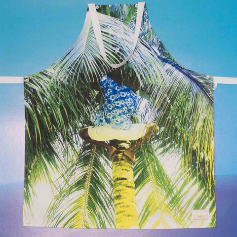 *SAMPLE* Picking Coconuts Apron & Tea Towel Set