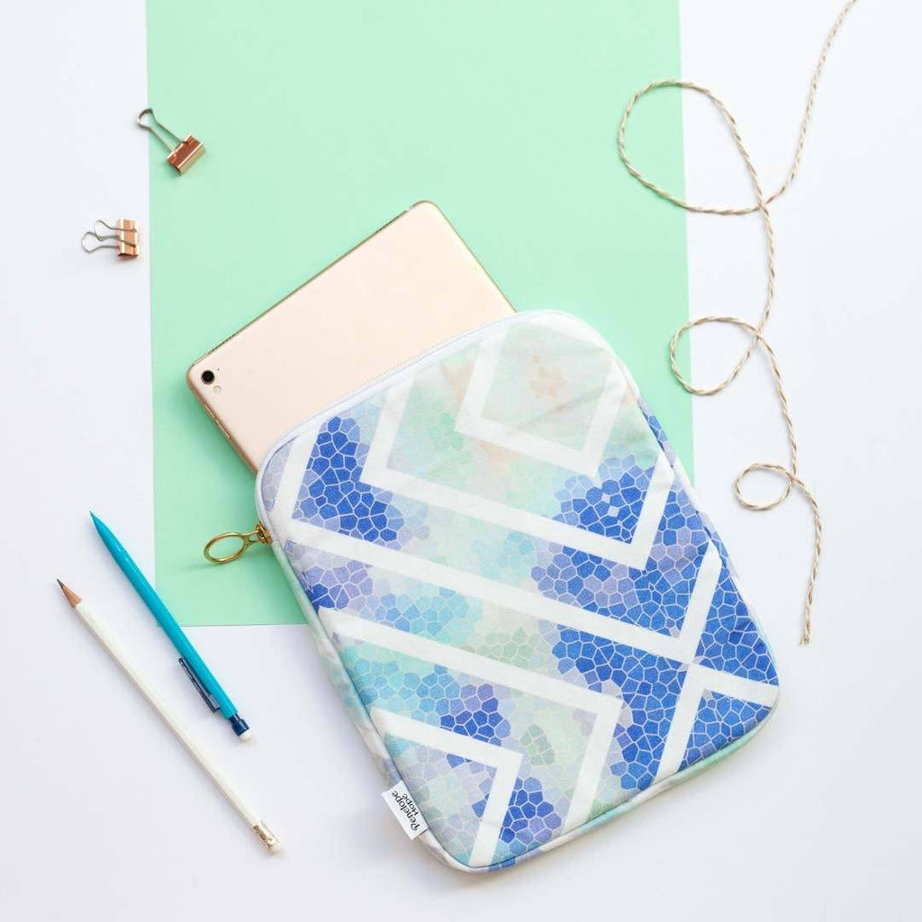 Blue Geometric Tablet or iPad Case by Penelope Hope