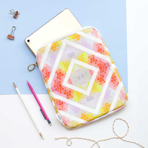 Yellow Geometric iPad Case by Penelope Hope