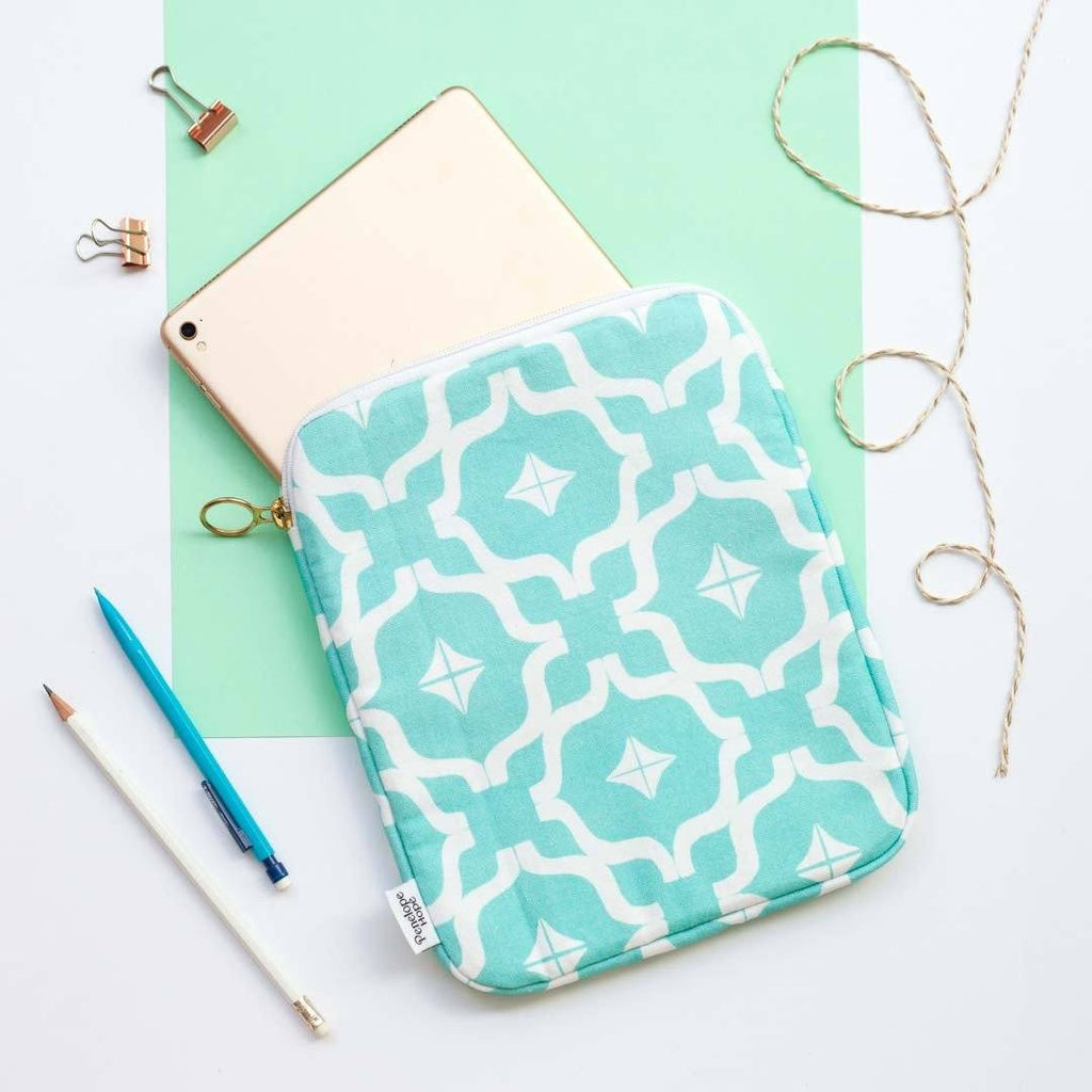 Moroccan Print Teal iPad Case by Penelope Hope