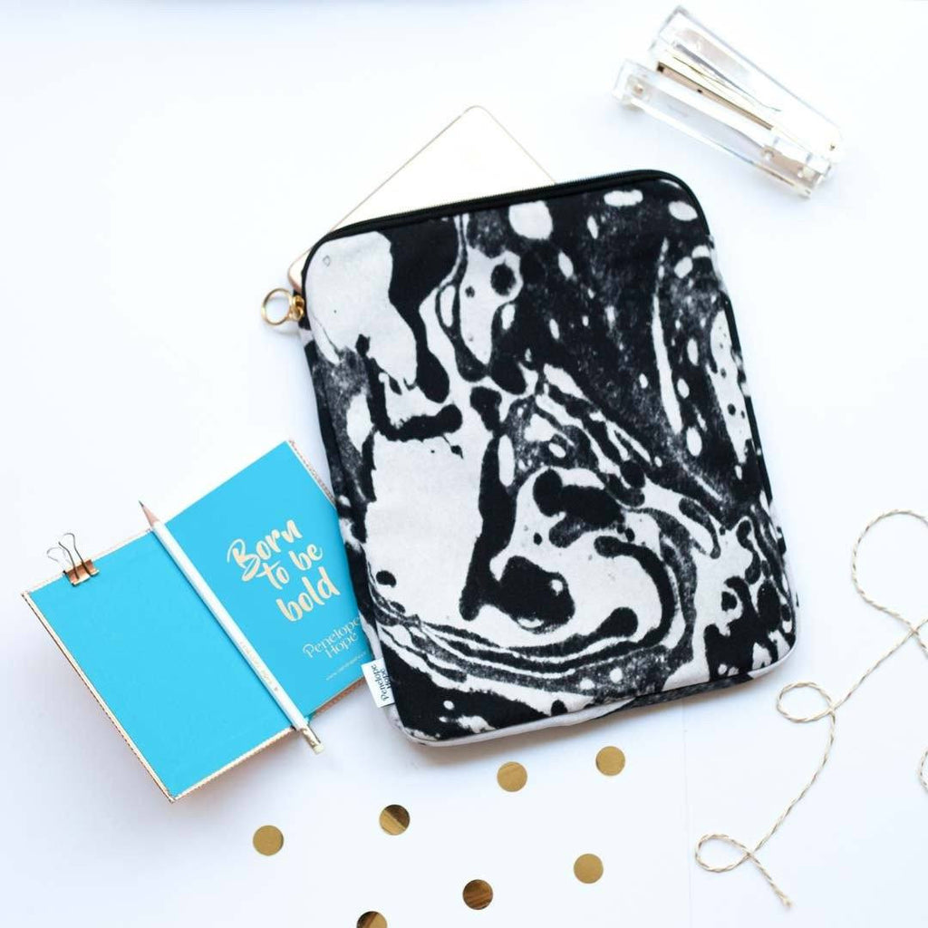 Mono Marble Tablet or iPad Case by Penelope Hope