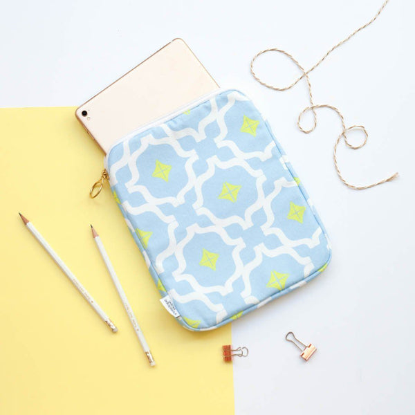 Taha'a Blue Mix iPad Case by Penelope Hope