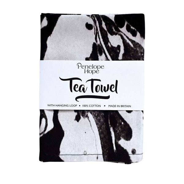 Mono Marble Tea Towel by Penelope Hope