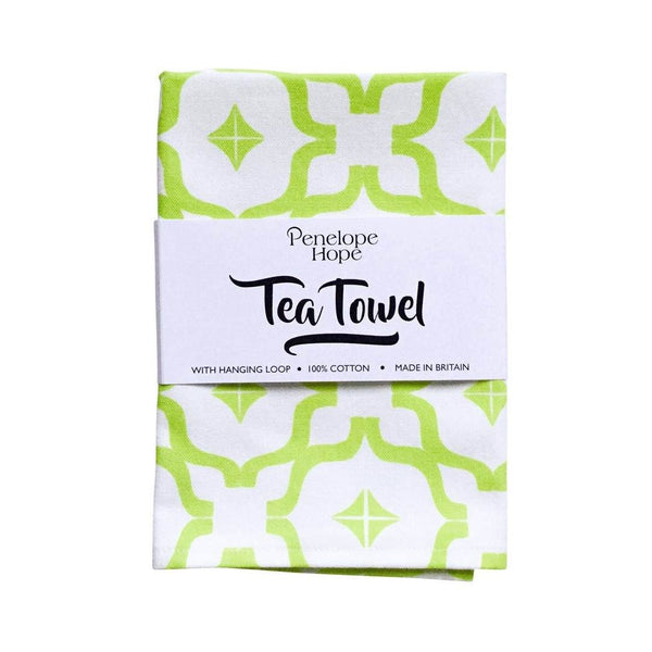 Moroccan Chartreuse Tea Towel by Penelope Hope