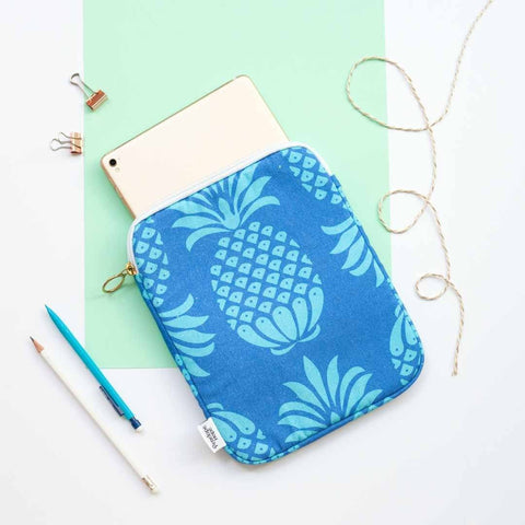 Blue Pineapple Tablet or iPad Case by Penelope Hope