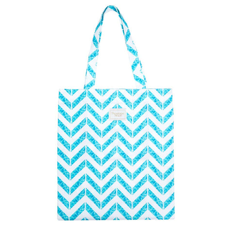 *SAMPLE* Chevron Aqua Tote Bag